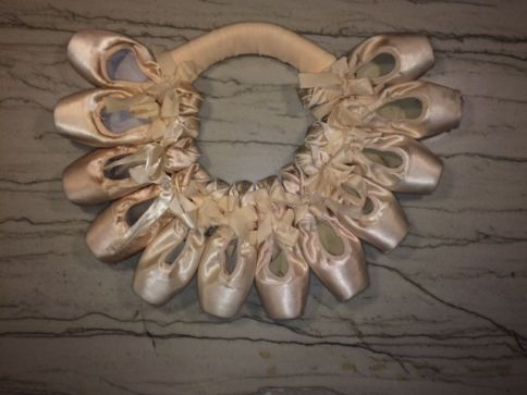 pointe shoe wreath1